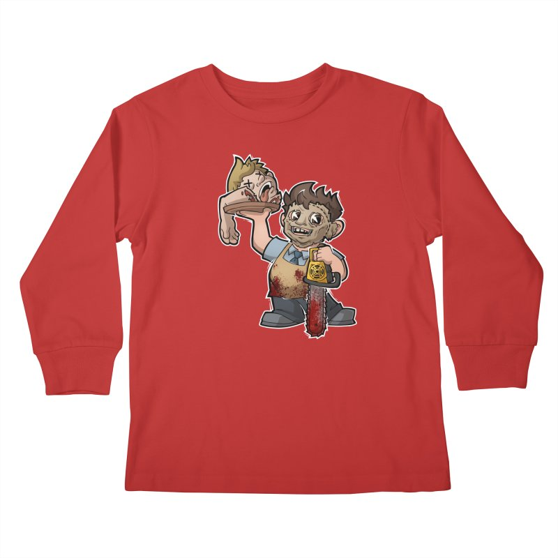 Texas Chainsaw Drive Thru Kids Longsleeve T-Shirt by Marty's Artist Shop