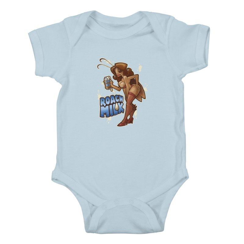 Roach Milk Kids Baby Bodysuit by Marty's Artist Shop