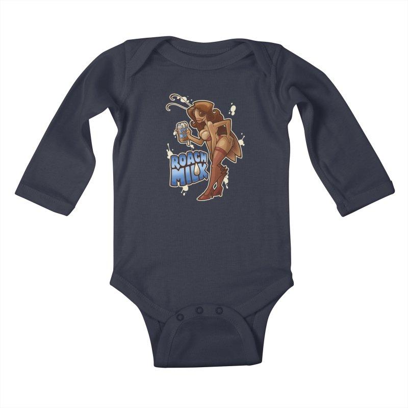 Roach Milk Kids Baby Longsleeve Bodysuit by Marty's Artist Shop