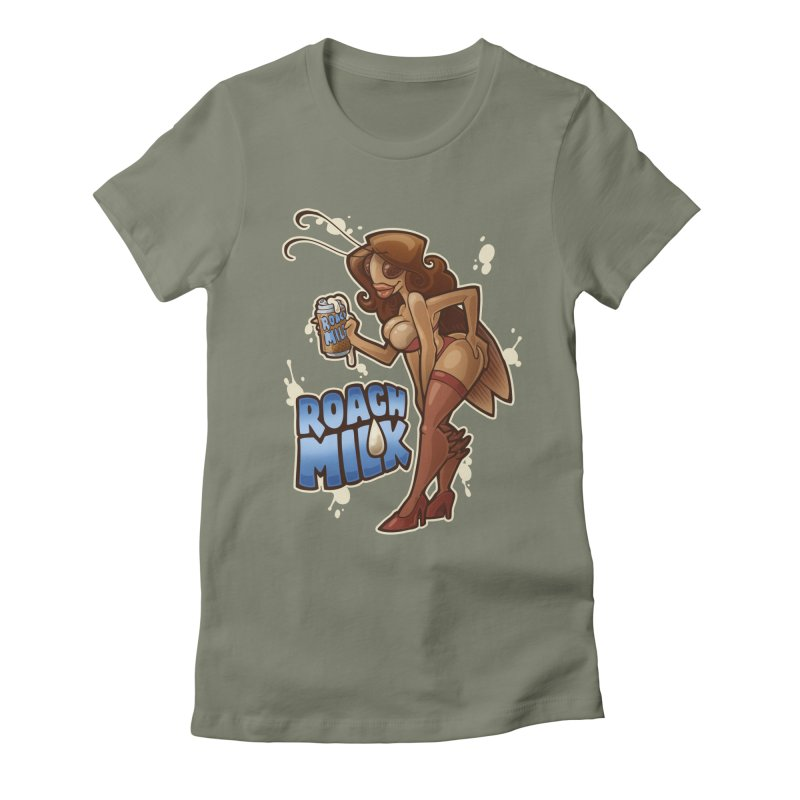 Roach Milk Women's Fitted T-Shirt by Marty's Artist Shop
