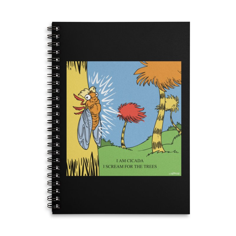 I AM CICADA Accessories Lined Spiral Notebook by Marty's Artist Shop