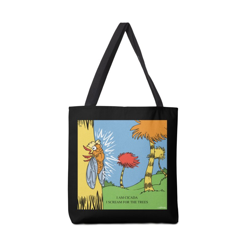 I AM CICADA Accessories Tote Bag Bag by Marty's Artist Shop