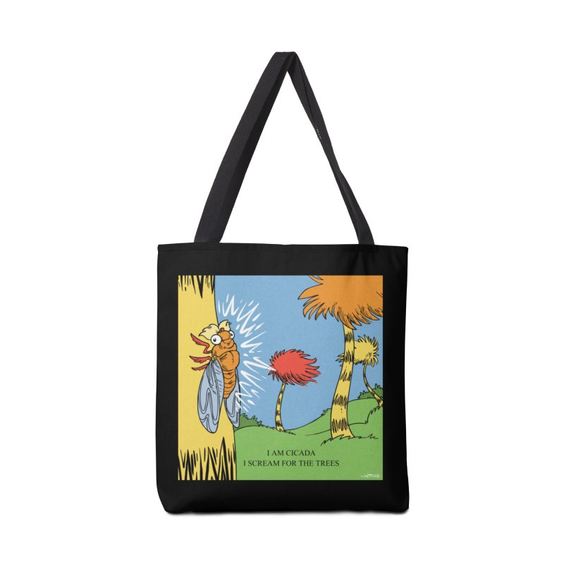 I AM CICADA Accessories Bag by Marty's Artist Shop