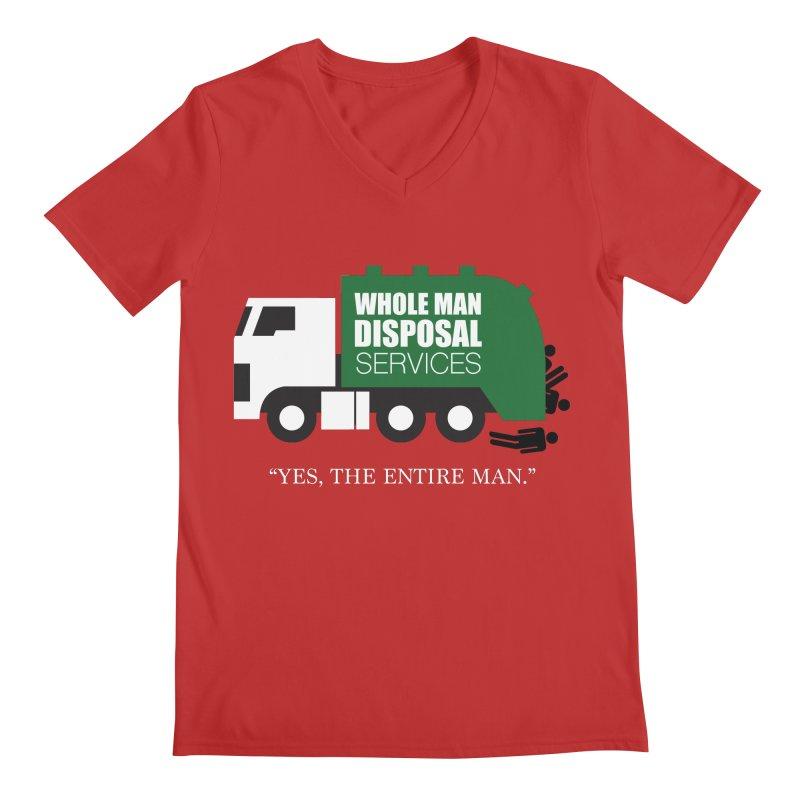 Whole Man Disposal Men's Regular V-Neck by Marty's Artist Shop