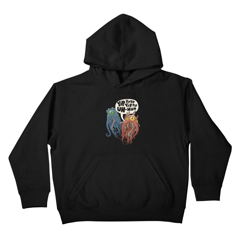 Affirmative Horrors Kids Pullover Hoody by Marty's Artist Shop