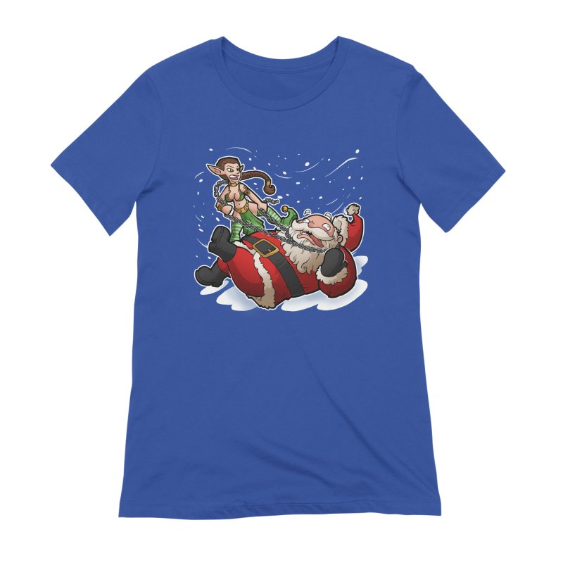 Santa the Hutt Women's Extra Soft T-Shirt by Marty's Artist Shop