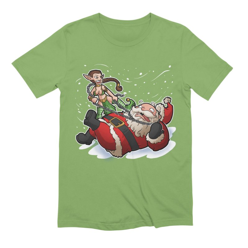 Santa the Hutt Men's Extra Soft T-Shirt by Marty's Artist Shop