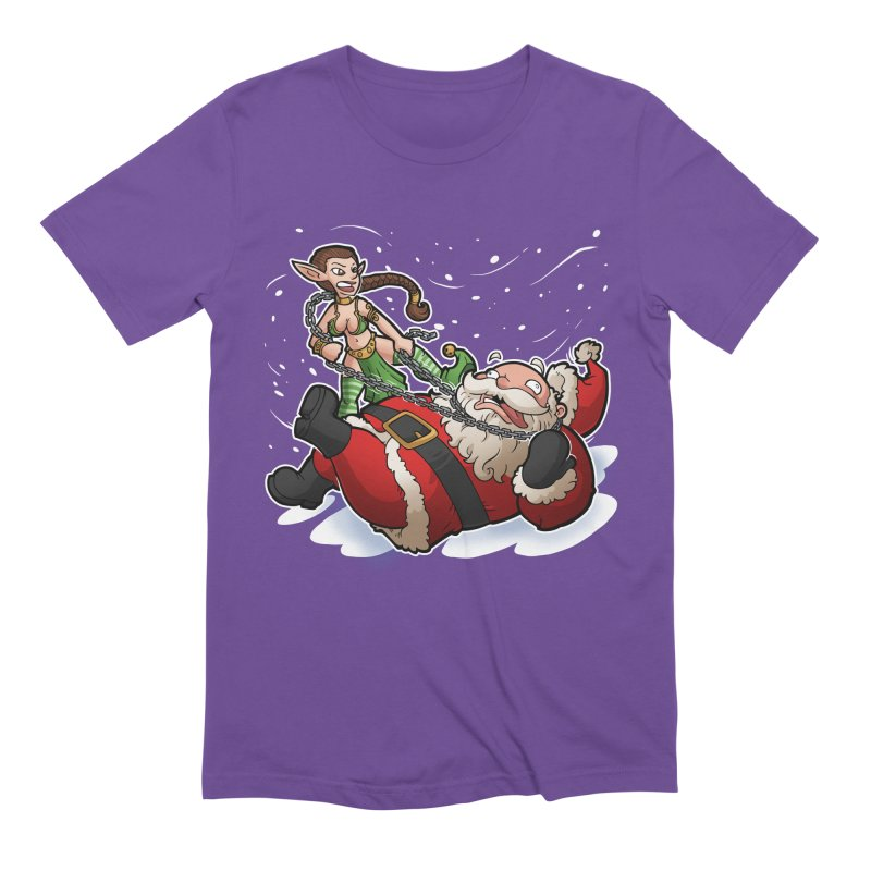 Santa the Hutt Men's Extra Soft T-Shirt by Marty's Artist Shop