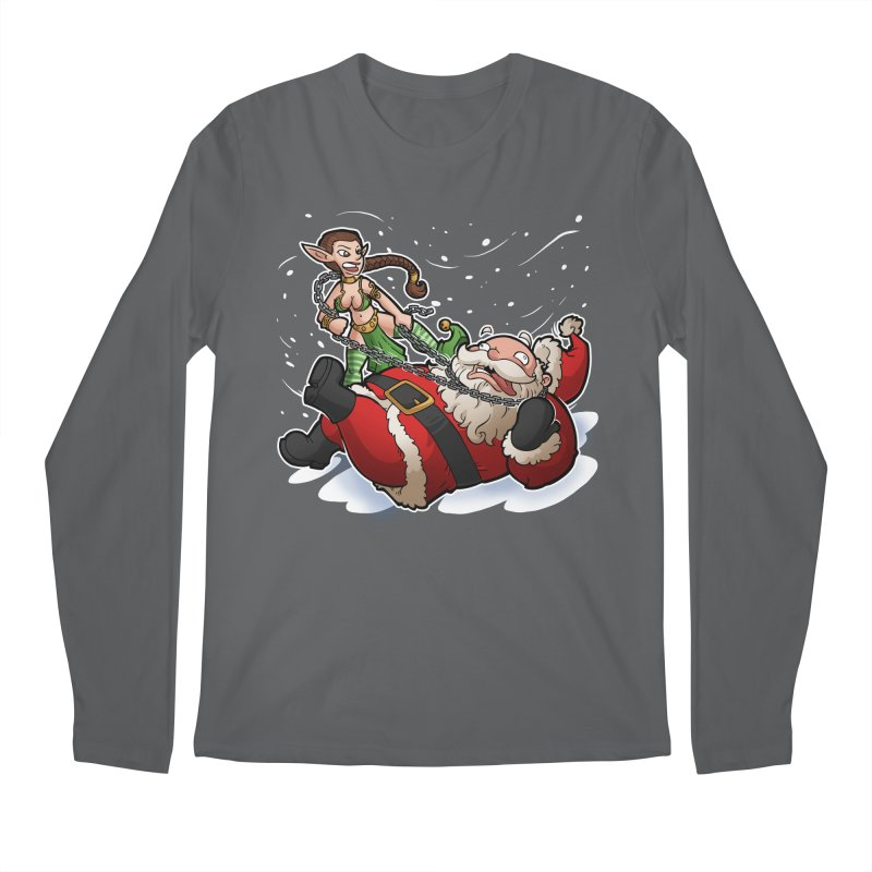Santa the Hutt Men's Longsleeve T-Shirt by Marty's Artist Shop