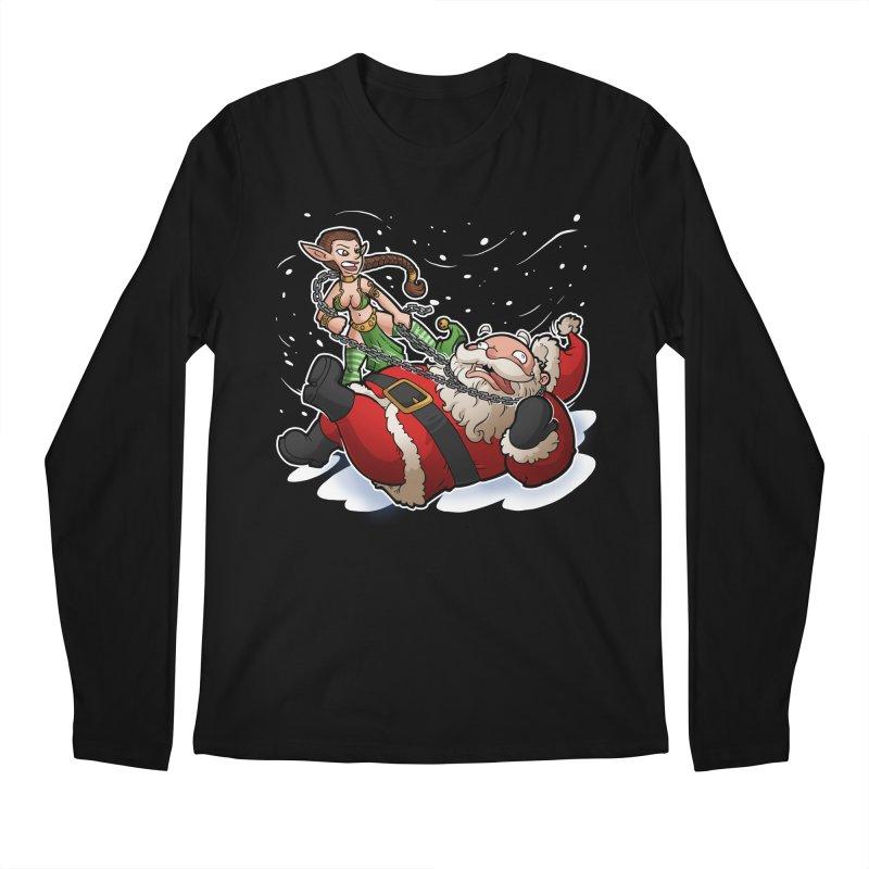 Santa the Hutt Men's Longsleeve T-Shirt by Marty's Artist Shop