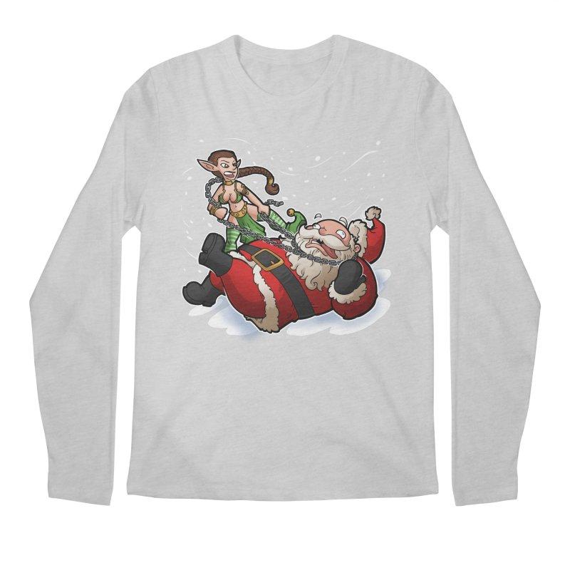 Santa the Hutt Men's Regular Longsleeve T-Shirt by Marty's Artist Shop