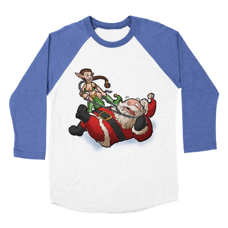 Santa the Hutt Women's Baseball Triblend Longsleeve T-Shirt by Marty's Artist Shop