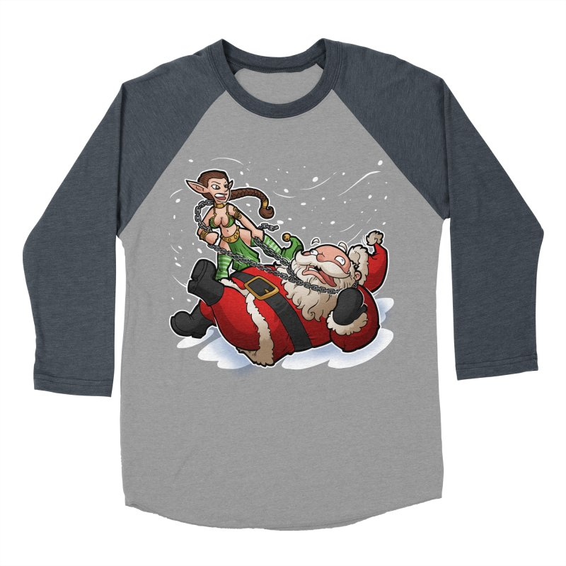 Santa the Hutt Men's Baseball Triblend Longsleeve T-Shirt by Marty's Artist Shop