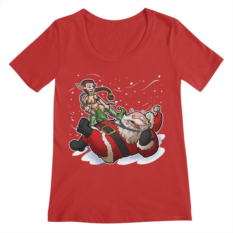 Santa the Hutt Women's Regular Scoop Neck by Marty's Artist Shop