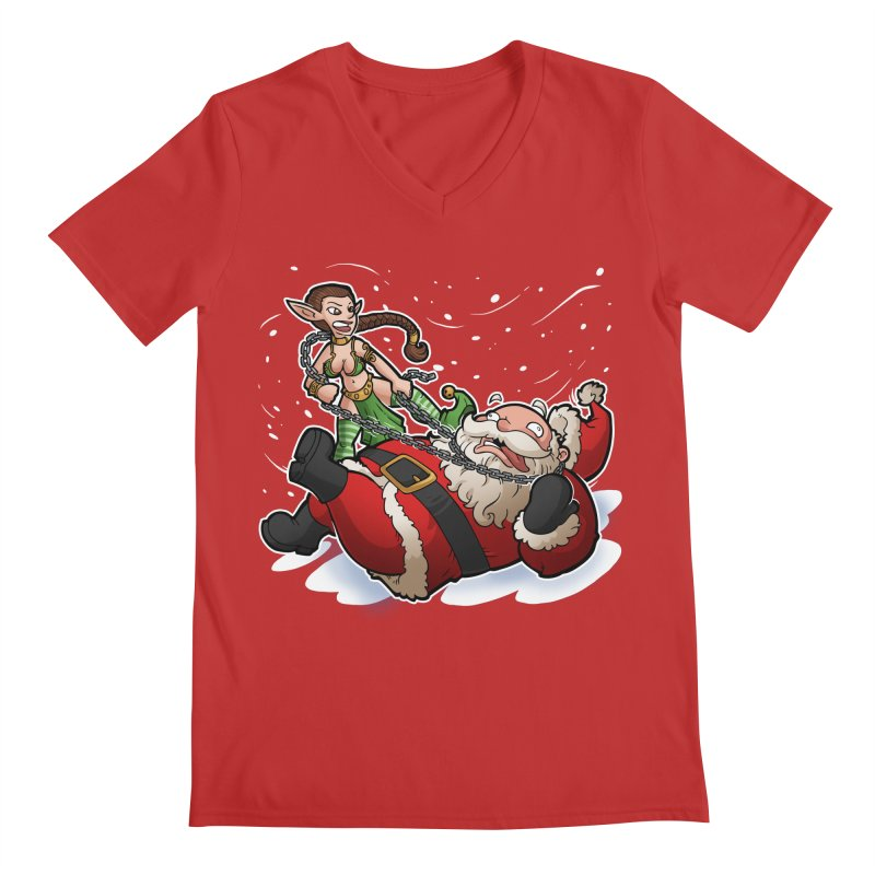 Santa the Hutt Men's V-Neck by Marty's Artist Shop