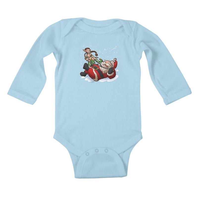 Santa the Hutt Kids Baby Longsleeve Bodysuit by Marty's Artist Shop