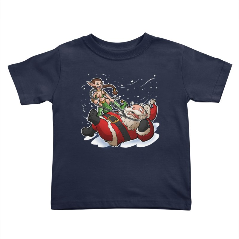 Santa the Hutt Kids Toddler T-Shirt by Marty's Artist Shop