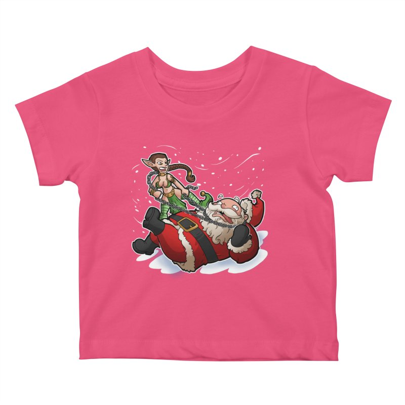 Santa the Hutt Kids Baby T-Shirt by Marty's Artist Shop