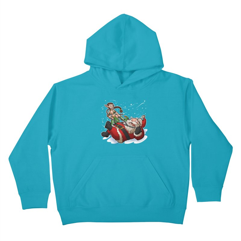 Santa the Hutt Kids Pullover Hoody by Marty's Artist Shop