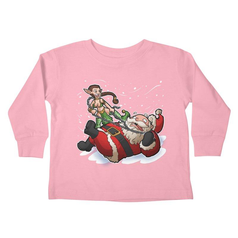 Santa the Hutt Kids Toddler Longsleeve T-Shirt by Marty's Artist Shop