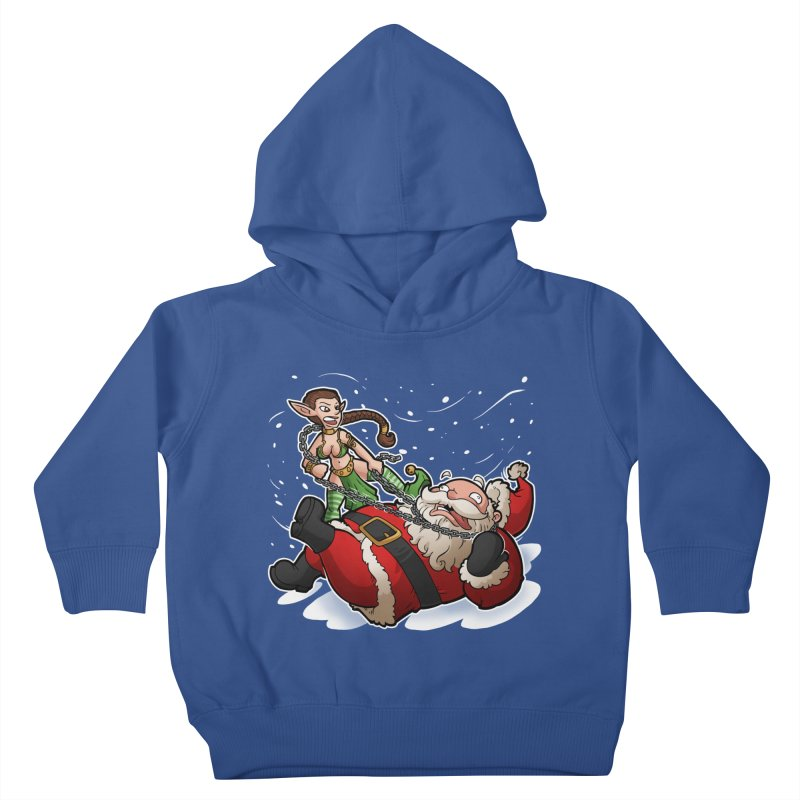 Santa the Hutt Kids Toddler Pullover Hoody by Marty's Artist Shop