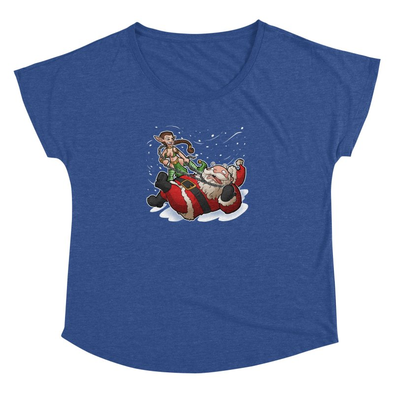 Santa the Hutt Women's Dolman Scoop Neck by Marty's Artist Shop