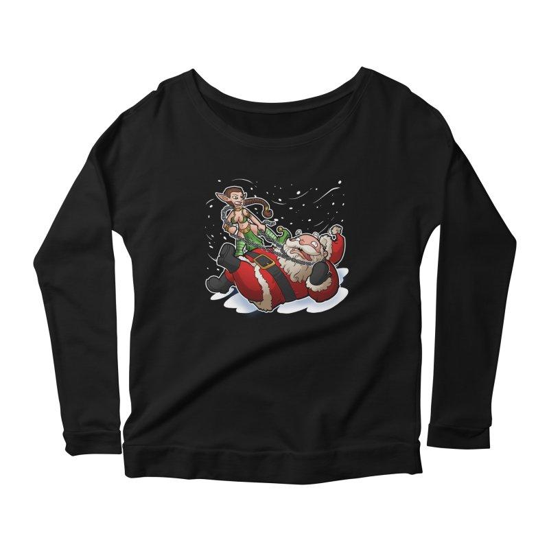 Santa the Hutt Women's Scoop Neck Longsleeve T-Shirt by Marty's Artist Shop