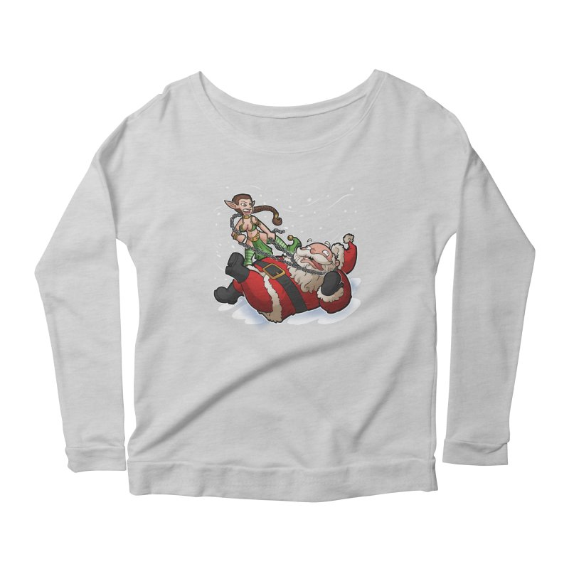 Santa the Hutt Women's Scoop Neck Longsleeve T-Shirt by Marty's Artist Shop