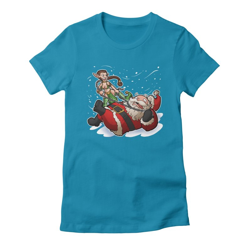 Santa the Hutt Women's Fitted T-Shirt by Marty's Artist Shop