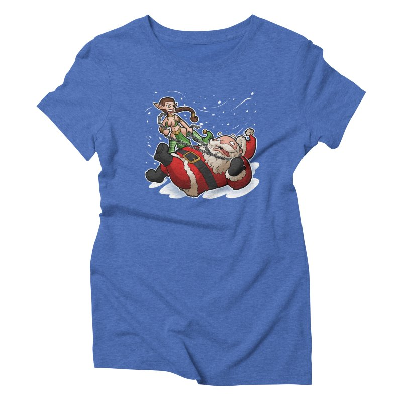 Santa the Hutt Women's Triblend T-Shirt by Marty's Artist Shop