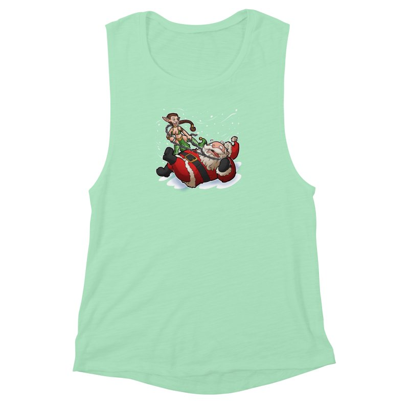Santa the Hutt Women's Muscle Tank by Marty's Artist Shop