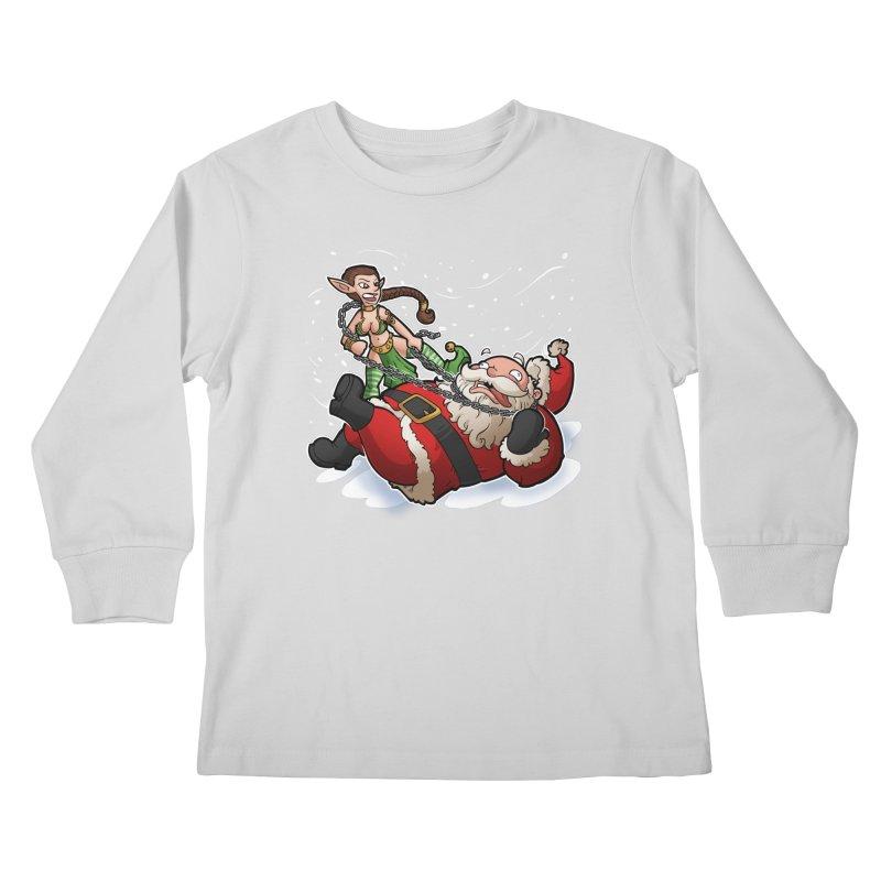 Santa the Hutt Kids Longsleeve T-Shirt by Marty's Artist Shop