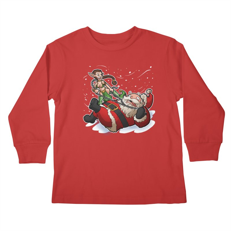 Santa the Hutt Kids Longsleeve T-Shirt by Marty's Artist Shop