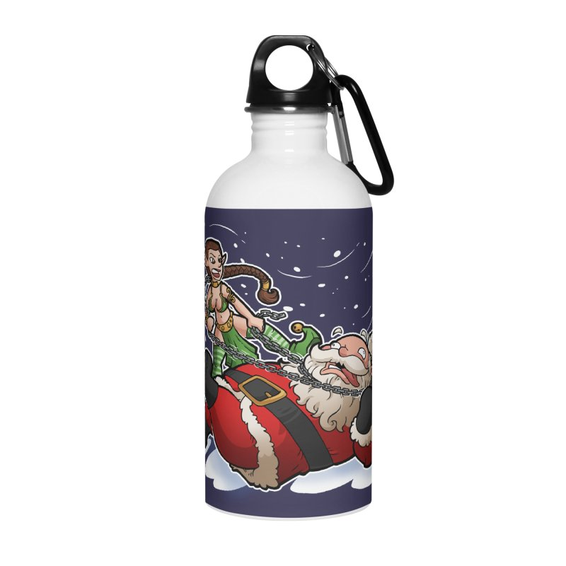Santa the Hutt Accessories Water Bottle by Marty's Artist Shop