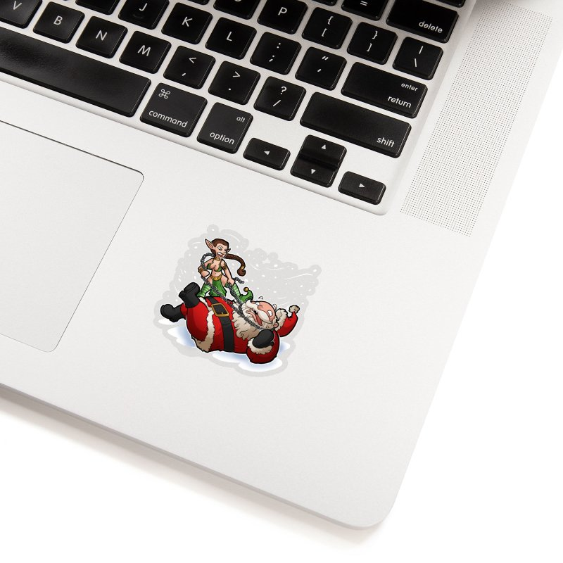 Santa the Hutt Accessories Sticker by Marty's Artist Shop