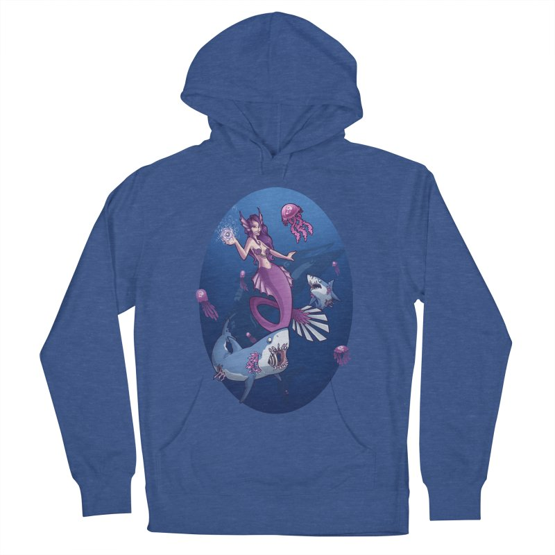 The Mermaid Queen Men's French Terry Pullover Hoody by Marty's Artist Shop