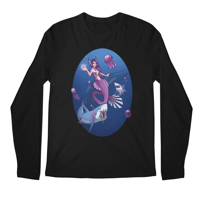 The Mermaid Queen Men's Regular Longsleeve T-Shirt by Marty's Artist Shop