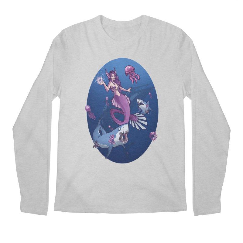 The Mermaid Queen Men's Longsleeve T-Shirt by Marty's Artist Shop