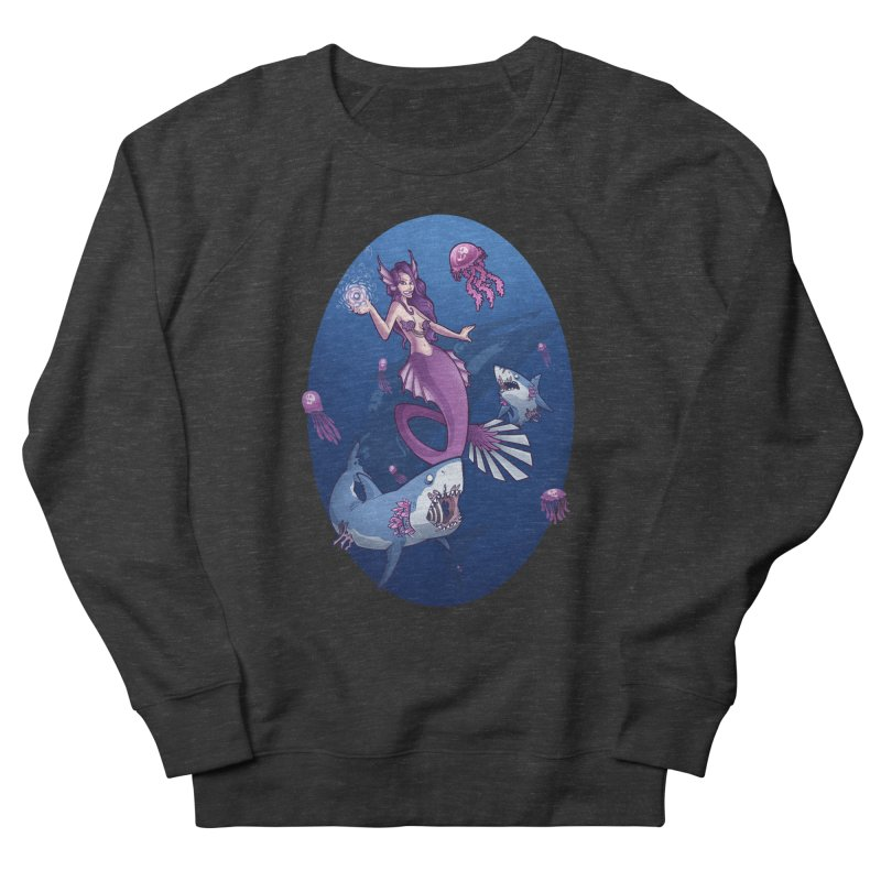 The Mermaid Queen Men's French Terry Sweatshirt by Marty's Artist Shop
