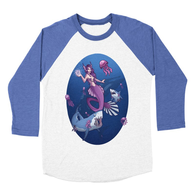 The Mermaid Queen Women's Baseball Triblend T-Shirt by Marty's Artist Shop