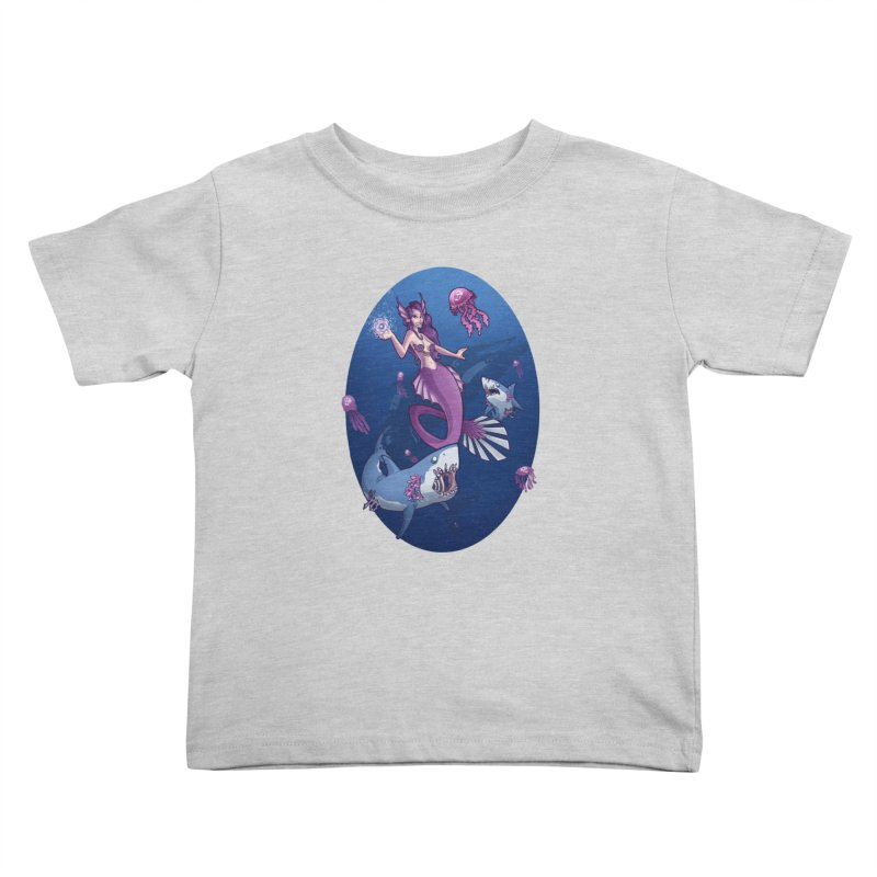The Mermaid Queen Kids Toddler T-Shirt by Marty's Artist Shop