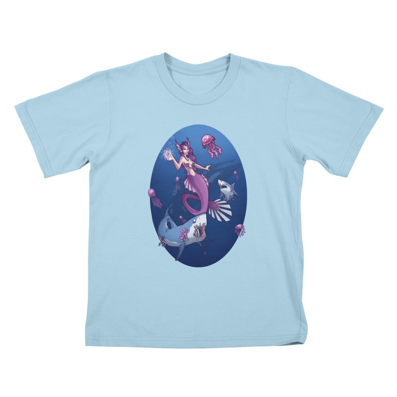 The Mermaid Queen Kids T-shirt by Marty's Artist Shop