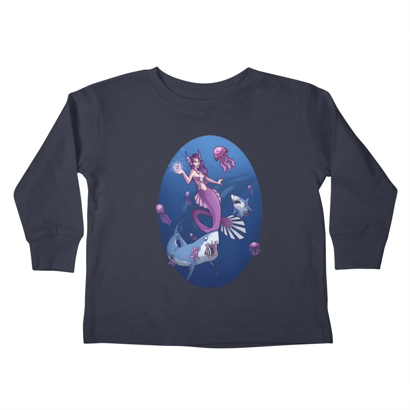 The Mermaid Queen Kids Toddler Longsleeve T-Shirt by Marty's Artist Shop