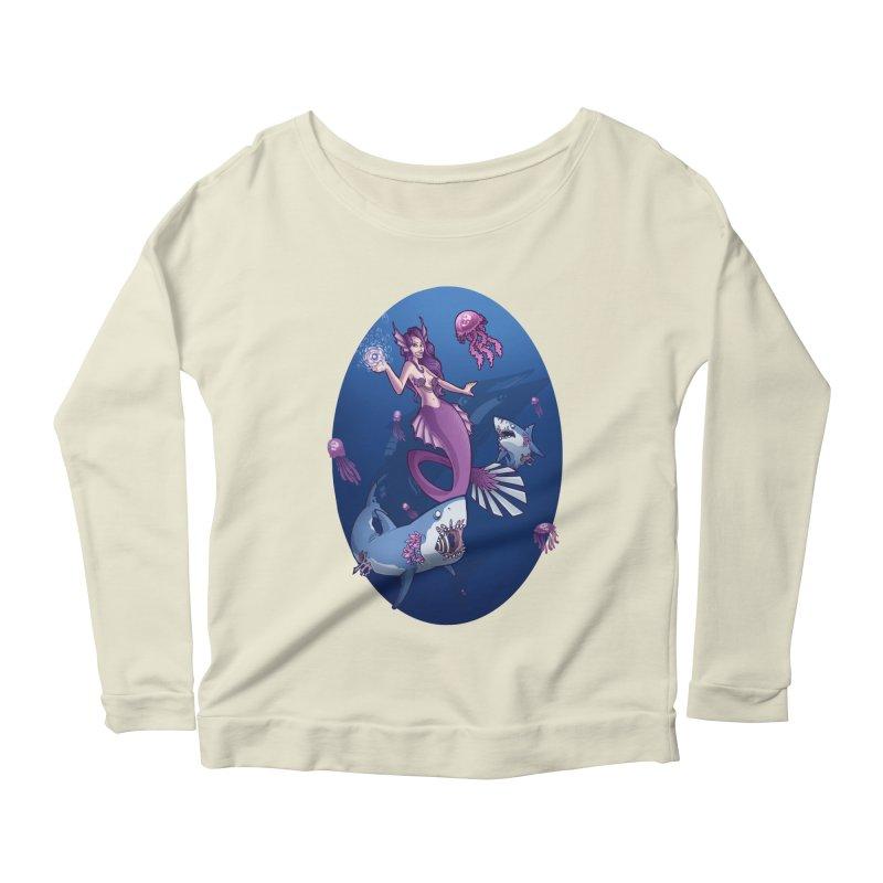 The Mermaid Queen Women's Scoop Neck Longsleeve T-Shirt by Marty's Artist Shop