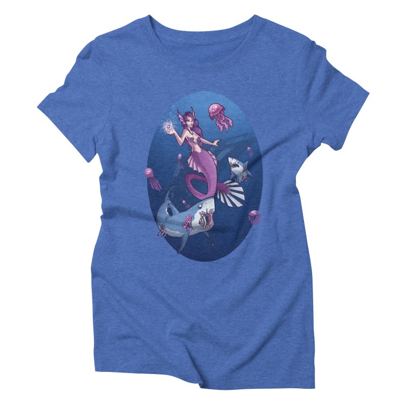 The Mermaid Queen Women's Triblend T-Shirt by Marty's Artist Shop