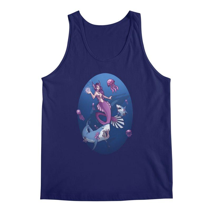 The Mermaid Queen Men's Tank by Marty's Artist Shop