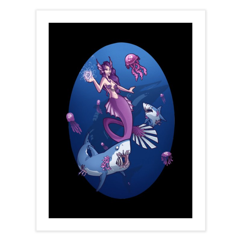 The Mermaid Queen Home Fine Art Print by Marty's Artist Shop