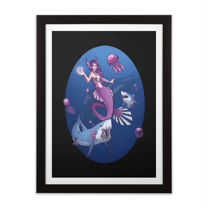 The Mermaid Queen Home Framed Fine Art Print by Marty's Artist Shop
