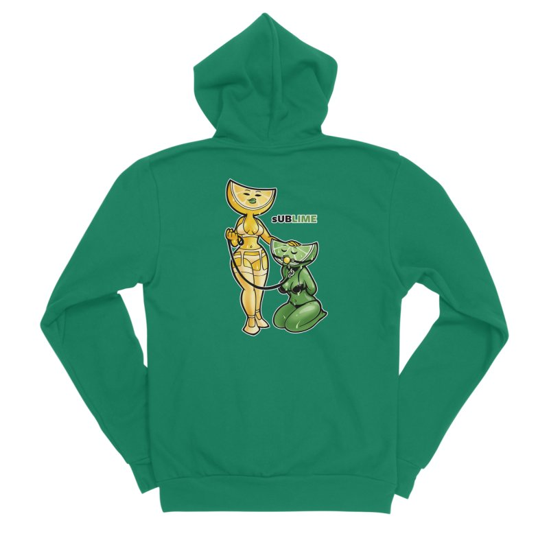 sUBLIME Men's Sponge Fleece Zip-Up Hoody by Marty's Artist Shop