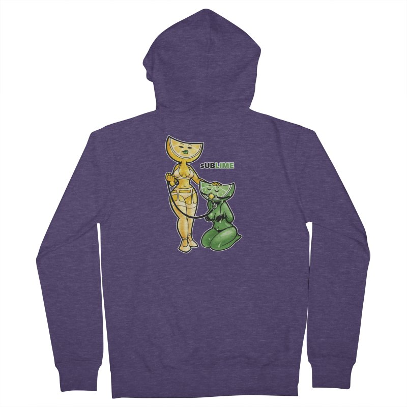 sUBLIME Men's French Terry Zip-Up Hoody by Marty's Artist Shop